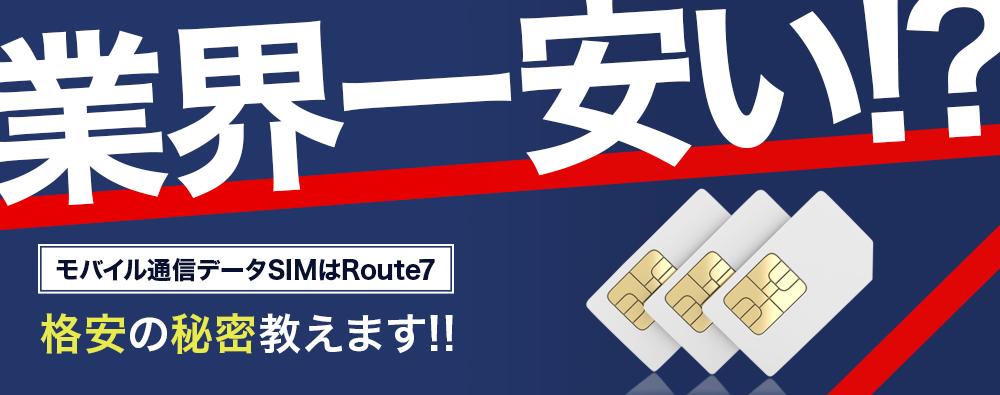 Route7はIoT/M2M専用のMVNO事業者です!!~最高のコストパフォーマンスをお届けします~